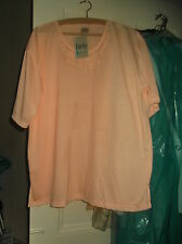 LADIES PEACH (LUCKY da,T-shirt)  TOP,  T SHIRT MATERIAL  SIZE 50/52 NEW