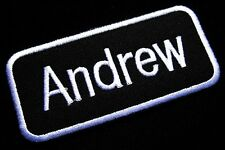 NAME TAG ANDREW EMBROIDERED IRON ON PATCH + Free Shipping