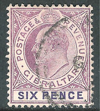 Gibraltar 1903 dull-purple/violet 6d fine used SG50
