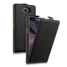SYNTHETIC LEATHER BAG FLIP STYLE FOR BLACKBERRY PRIV BLACK CASE POCKET COVER