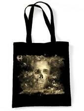 SMOKE SKULL SHOULDER  SHOPPING BAG - Goth Gothic Horror Halloween