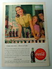 1947 COCA COLA AD YOUNG LADY ON PORCH WITH FRIENDS DRINKING COKE