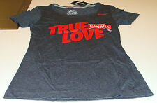 Team Canada 2014 Sochi Olympics S Black Scoring Triblend Ladies Women T Shirt