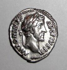 Ancient Roman Empire, Antoninus Pius. 138 - 161 Ad. Ar Denarius. Thunderbolt