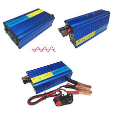 UK Car 500W/1200W(Peak)Pure Sine Wave Power Inverter 12V DC to 230V ACInverter