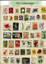 T463 # BULK 48 PCS FLOWERS USED STAMPS RSA ARGENTINA GHANA ETC