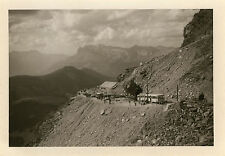 PHOTO ANCIENNE - VINTAGE SNAPSHOT - PETIT TRAIN TOURISTIQUE MONT BLANC GLACIER