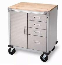 Seville 4-Drawer Rolling Garage Steel Metal Storage Cabinet Tool Box Work Bench