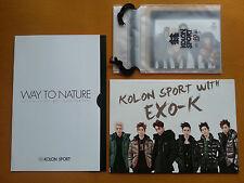 EXO(K) KOLON SPORT Official Photo Card Set & Photo Booklet & Catalog