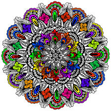 Evolution Mandala Large 22x22 Inch Coloring Poster