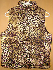 Jones New York SPORT VEST (Misses size Small) Animal Print (Cheetah/Leopard) NWT