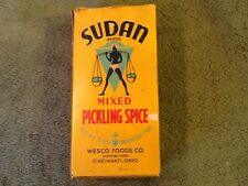 Sudan Mixed Wesco Foods Kroger Approved, Picking Spice Box, 5oz - Vintage