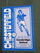 CHESTERFIELD   vs CAMBRIDGE UNITED  -1977-78  DIV 3