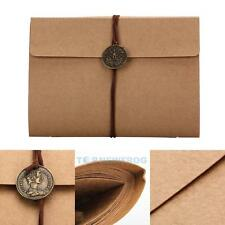 DIY Vintage Kraft Paper Cover Scrapbooking Family Baby Memory Gift Photo Album