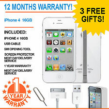 Apple Iphone 4 (16gb) EE Naranja T-mobile Virgin Mobile Smart Phone Blanco