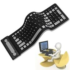Portable Wireless Flexible Silicone PC Keyboard Foldable for Laptop Notebook BG