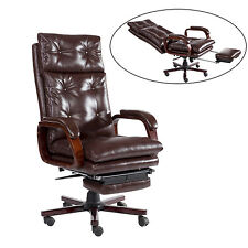 HOMCOM Office Chair Modern PU High Back Style Seat Computer Executive Task Wood
