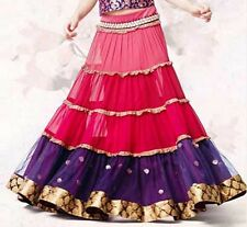 Belly Dance Skirt Bollywood Dance costume choli Duppata Indian lengha skirt Sari
