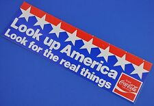 Großer Coca Cola Coke Aufkleber USA 1980er Sticker Decal - Look Up America