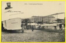 cpa Photo J. Hauser, Paris AVIATION Gros Plan de L'AÉROPLANE Henri FARMAN N° 1