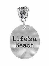 Life's a Beach Oversized Shore Town Vacation Dangle Charm for European Bracelets