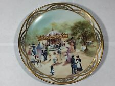 CHILDRENS CAROUSEL COLLECTOR PLATE RUSTY MONEY SECOND 2ND TURN OF THE CENTURY