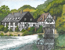 ORIGINAL AQUARELL - Der Wipperkotten in Solingen.