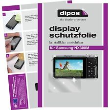 6x dipos Samsung NX300 / NX300m screen protector protection crystal clear