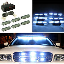 Super White 54LED Vehicle Emergency Flashing Warning Strobe Light Bar Dash Grill