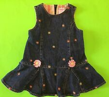 NWT GYMBOREE GIRLS 6-12 MONTHS DENIM JEAN JUMPER DRESS FRESHLY PICKED FLOWERS