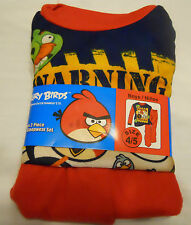 Angry Birds Flannel Sleepwear Set Boys Pajamas Sz 4/5 Red