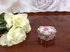 GRAZIOSA porcellana vintage portagioie portagioie-tavolo da toeletta visualizzazione Floreale
