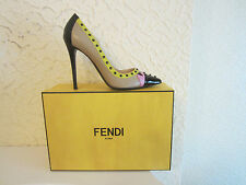 Fendi Decollete' Colour Block Embellished Pump Shoes