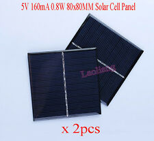 2pcs 5V 160mA 0.8W 80x80MM Solar Cell Panel Charger Charging Board DIY Car Boat