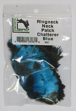 HARELINE RINGNECK PHEASANT NECK PATCH FEATHERS FOR FLY JIG TYING YOU PICK COLOR