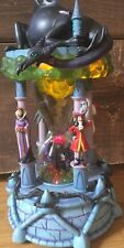 RARE Disney Villains Hourglass Shape Snow Globe HTF!!lights Up Sounds!