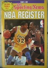 1991-92 The Sporting News Official NBA Register - Magic Johnson Cover