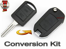 OPEL AGILA MERIVA CORSA C COMBO LLAVE 2 but FUNDA TRANSFORMATION KIT CARCASA KEY