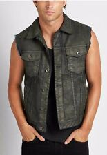 Guess Dillon Denim Vest In Suspension Wash Coated Finish Size L