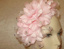 FASCINATOR HAT Ladies PINK FLOWERED Wedding Church Tea Hats ONLY 1 AVAILABLE