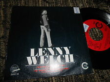 "LENNY WELCH Breaking Up is hard to do/Get Mommy To Come..7"" 1970 SPAIN PROMO"