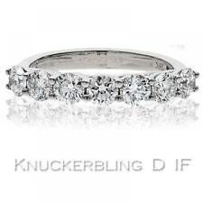1.50ct Certified D IF Diamond Ring Brilliant Cut 7 Stone 18ct White Gold Wedding