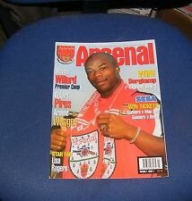 ARSENAL - THE OFFICIAL MAGAZINE VOLUME 4 ISSUE 3 - SYLVAIN WILTORD/ROBERT PIRES