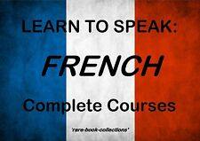 LEARN TO SPEAK FRENCH -LANGUAGE COURSE- 110 HRS AUDIO MP3 & 10 BOOKS ALL ON DVD!