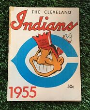 (2) 1955 Cleveland Indians Sketch Book / Year Book Yearbook