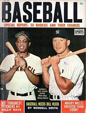 1963 Complete Sports Baseball magazine, Mickey Mantle, Yankees, Willie Mays~Fair