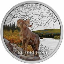 Canada 2015 Rocky Mountain Bighorn Sheep $20 Pure Silver Wildlife Proof w Color
