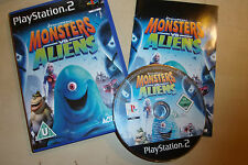 PLAYSTATION 2 PS2 GAME DREAMWORKS MONSTERS Vs ALIENS +BOX INSTRUCTIONS COMPLETE