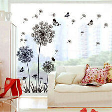 Dandelion Removable Vinyl Decal Fly Wall Sticker Art Mural Home Room Decor DIY
