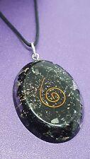 Turmalina SCHORLO Gema Orgón Cristal Negro Colgante Collar De Protección Reiki c3